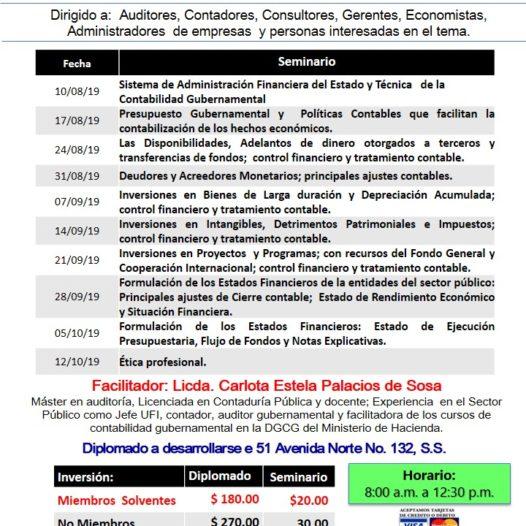 Diplomado de Contabilidad Gubernamental.