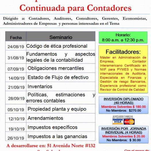 Diplomado de Educación Continuada para Contadores.