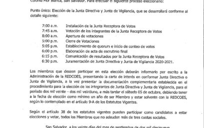 CONVOCATORIA A ASAMBLEA GENERAL ORDINARIA.