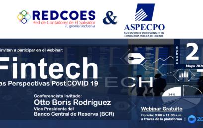 """Webinar: """"FINTECH: Las Perspectivas Post COVID-19"""""""