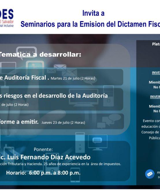 Seminarios para la Emisión del Dictamen Fiscal