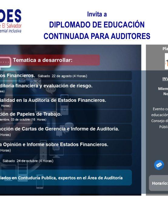 Diplomado en Educación Continuada para Auditores.