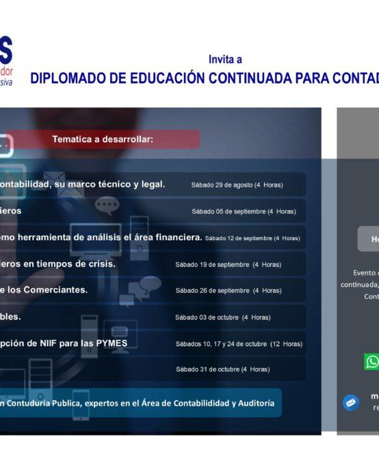 Diplomado en Educación Continuada para Contadores.