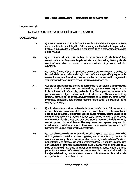 56 RLT Ley de Contribución Especial para la Seguridad Ciudadana y Convivencia.