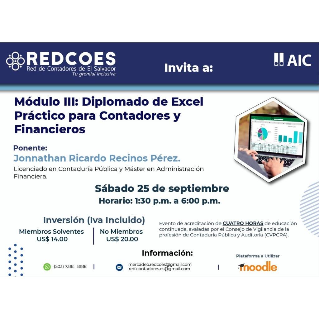 Módulo III: Diplomado de Excel Práctico para Contadores y Financieros.